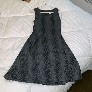 Gray snakeskin print circle dress